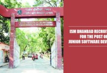 ISM Dhanbad Recruitment