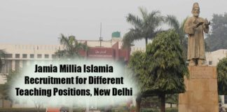 Jamia Millia Islamia Recruitment